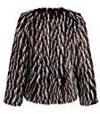 Pretty Attitude pelliccia finta giacca da donna in acciaio inox con interno in leopardato