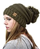 NYfashion101 ® Pompon Oversize Baggy Slouchy spessore cappello invernale
