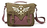 Bioworld - Borsa a Tracolla The Legend Of Zelda - Verde Canvas Golden Triforce - 8718526050356