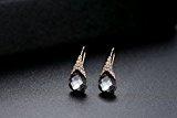 GoSparking Silver Shadow cristallo oro rosa 18 carati placcato orecchini della lega Anelli con cristallo austriaco per le donne