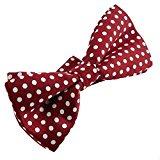 Ukerdo Rosso Cravatte e Papillon Da Uomo Donna Farfalla Nozze Pre-Annodati - 3 pezzi