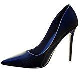 Angkorly - Scarpe da Moda scarpe decollete stiletto sexy donna verniciato lucide Tacco Stiletto tacco alto 11 CM - Blu