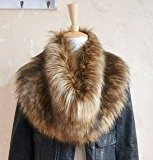 Trendy Fashion Winter Warm-Sciarpa da donna in pelliccia sintetica, colletto con colori sciarpe Wolf colore