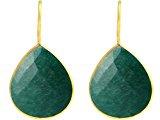 Gemshine - Donna - Orecchini - Argento - 925 Sterling Silver - Placcato Oro 18k - Smeraldo - Verde - CANDY - 3,5 cm