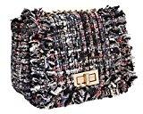 BMC Donna Cute Tessuto Stile Texture Mini Borsa Chiusura A Scatto Borsetta