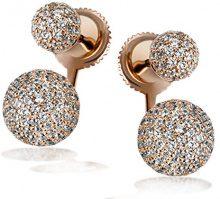 Goldmaid Orecchini da Donna Placcato oro Brillante Zirconia Cubica