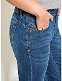 Fiorella Rubino: Jeans donna skinny push up délavé. Plus size
