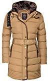 Donna colletto giacca Parka in piumino cappotto imbottito invernale pelliccia cappuccio trapunta di Alaska