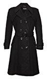 De La Creme - lana Womens & Cashmere invernale lungo cappotto con cintura