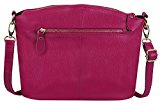 Yaluxe Donna Casual Stile Triple Cerniera vera pelle Purse Top Handle Cross Body Borse a tracolla