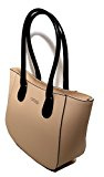 Borsa a secchiello in vera pelle, Made in Italy ''CREEO'' Beige