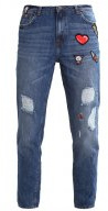 LIV - Jeans baggy - mid stone wash denim