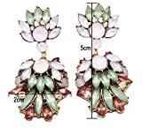 TWOPAGES-Orecchini pendenti con cristalli colorati accessori da donna, da bambina