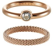 Skagen ELIN Anello rose goldcoloured