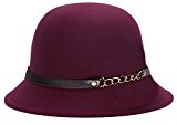 King Star Lady lana Billycock da donna Fashion Vintage catena Bowler Derby Cappello