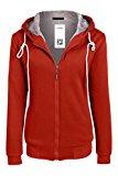 Acevog Donna felpa con cappuccio in colorepurosport Sweatshirt di spessore