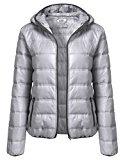 Meaneor Femminile Autunno Inverno piumino imbottito piumino cappotto del rivestimento Übergangsjacke Leict con tasca con zip