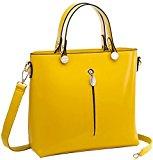 Coofit Moda Borse Donna Borsa in Pelle Style Tote Bag Borse a Tracolla (Giallo)