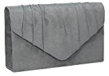 SwankySwans - Iggy Suede Velvet Envelope Party Prom Clutch Bag, Sacchetto Donna