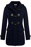 Zeagoo inverno lana cappotto montgomery cardigan con cappuccio delle donne