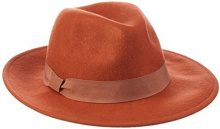 PIECES PCTUL HAT W. BRIM-Cappello in felto Donna    Rot (Picante) S^M
