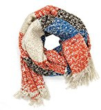 ManuMar Donna Autunno/Inverno XXL sciarpa autunno inverno sciarpa Oversized geknittert strisce