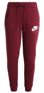 RALLY - Pantaloni sportivi - night maroon/birch heather/white