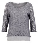 OBJMARY - Maglietta a manica lunga - medium grey melange