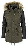 Urban Classics giacca da donna Leather Sleeve Parka imitazione