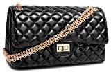 HandbagCrave® Envy Trapuntato Catena d'oro / catena d'argento Hardware Flap Bag Borse a spalla Pochette