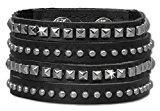 SilberDream ltext-Cinturino in pelle nero mini-rivetti in acciaio inox LAP512S