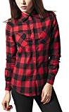 Urban Classics Ladies Checked Flanell Shirt, Camicia Donna