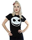 Disney Donna Nightmare Before Christmas Jack Skellington Face Maglietta