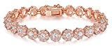 Wostu Placcato oro rosa braccialetto di tennis con cubici zircone cristallo gioielli per donne festa della mamma Offerte