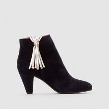 Boots pelle dettaglio pompon