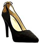 Angkorly - Scarpe da Moda scarpe decollete stiletto sexy donna pon pon frange Tacco Stiletto tacco alto 10 CM - Nero