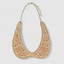 Collier perle e strass
