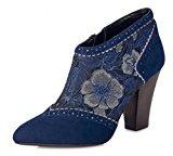 Ruby Shoo Nicola stivali col tacco alto blu motivo floreale