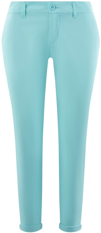8070590641 oodji Ultra Donna Pantaloni Chino in Cotone, Blu, IT 46 / EU 42 / L ...