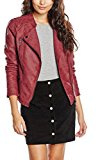 Only Onlava Faux Leather Biker Otw Noos, Giacca Donna