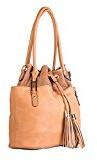 Divinity Bags - Borsa, di stile Sacco, con manici spalla, tasche (interna ed esterna) e diversi scomparti (compresa tracolla)