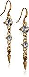Pilgrim Jewelry donna-Orecchini in ottone placcato oro 5,5 cm bianco 261342003
