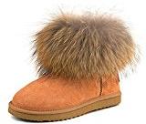 Shenduo Scarpe invernali - Stivali da neve originali in pelle di alta qualità classici con caldo e pelliccia di volpe Donna D9251