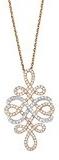 Noelani collana da donna con ciondolo con ottone rodiato zirconi–bianco 511490