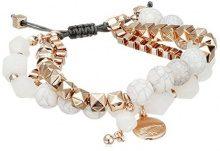 Pilgrim dreambase-braccialetto Superior giada taglio rotondo bianco vetro 6 cm - 181614002