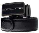 Esclusivo Cintura di pelle vera Monte Lovis con fibbia automatica in un regalo elegante - lunghezza regolabile (Style 19)