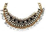 Sweet Statement collana ALBACETE elegante Deluxe oro nero con perline bianche
