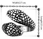 Massiccio anello acciaio inossidabile stile biker serpente unisex dimensione 17 Ø 18.1mm