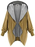 DJT - Hoody knit con Cappuccio - Donna Marrone Large