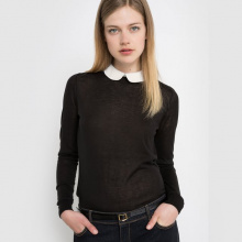 Pull con colletto maniche lunghe